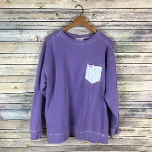 Fraternity Collection Purple Crewneck Sweatshirt
